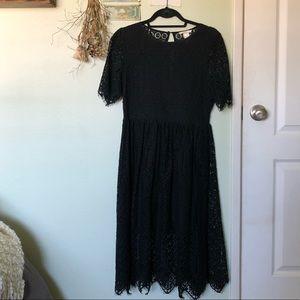 H&M Cotton Lace Midi Dress
